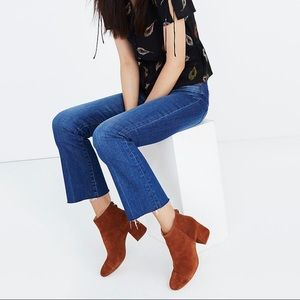 Madewell The Jillian Boots in Suede Maple